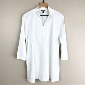 Eileen Fisher White Size Large 3/4 Sleeve Tunic